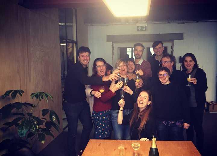 Een toast op het nieuwe jaar!