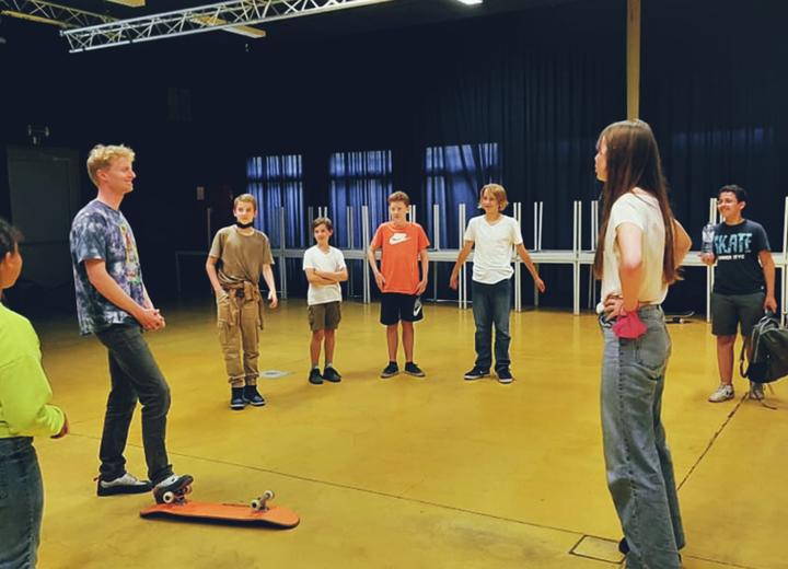 Skaten en theater in CC Het SPOOR